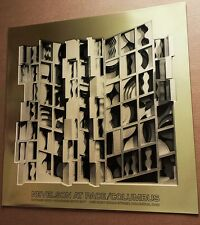 Louise Nevelson 1977 ORIGINAL METAL FOIL ABSTRACT POSTER PRINT METALLIC GOLD