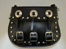 WOMENS SMALL MOTORCYCLE BIKER STUDDED CLIP ON WAIST HIP, BELT POUCH PURSE BAG, G