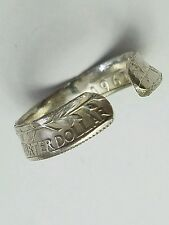 1962 Washington Quarter 90% Silver Coin Ring Sz Adjustable Liberty Double Sided