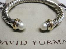 David Yurman 7mm Pearl Cable Bracelet with Pouch & Free Shipping