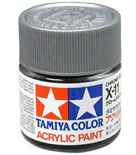 TAMIYA COLOR X-11 Chrome Silver MODEL KIT ACRYLIC PAINT 10ml Free Shipping