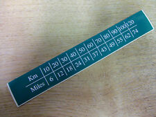 MPH to KM/H conversion sticker / decal