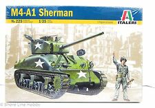M4-A1 Sherman Tank Italeri 225 1/35 New Armor Model Kit