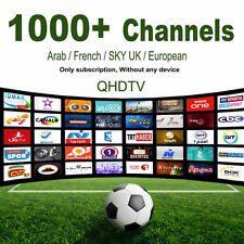 IPTV Arabic QHDTV Beinsport Europe SKY French Turkish Digispain (1 Year)
