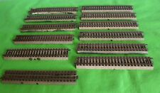 MARKLIN VINTAGE 2 RAIL STRAIGHTS  LOT OF 12 HO GAUGE