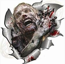 Large Metal Ripped Rip Torn Zombie Sticker Drift JDM Car Truck Van Bike