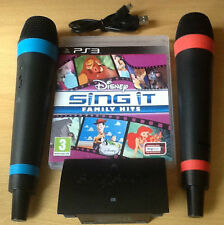 Como SingStar Disney Sing It Family Hits PS3 micrófonos inalámbricos Niños Fiesta