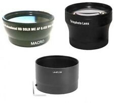 Wide Lens + Tele Lens + Tube Adapter bundle for Nikon CoolPix L120 L310