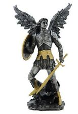 NEW! Gold Pewter St Saint Michael Archangel Patron of Police Officer Statue ST