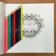 Wooden 12 x Colors Pencils Sketching Drawing Kids Student For Gift Set