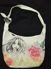 Cute Nwt Tangled Rapunzel Flowers Crossbody Disney Sketch Hobo Tote Bag Purse