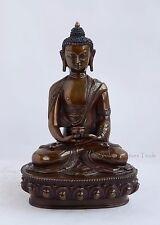 "8.25"" Amitabha/Amida Opame Buddha Oxidized Copper Alloy Statue from Patan, Nepal"