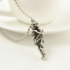 Infinity Tibet Silver Stainless Steel Skull Pendant Chain jewellry Necklace