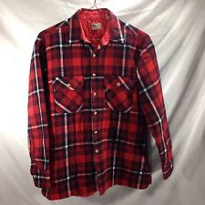Oakton Ltd Large Plaid Flannel Quilted Lined Trucker Jacket Shirt