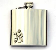 Ice Hockey Goal Keeper Tender Hip Flask Gift Boxed Team NHL Club FREE ENGRAVING