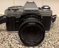 Vintage Minolta X300 SLR 35mm with Sigma 28mm Mini-Wide Angle Lens