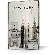 METAL TIN SIGN OLD MANHATTAN NEW YORK POSTER Retro Decor Home Wall Garage Pub