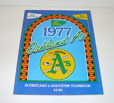Vintage 1977 Oakland A's Souvenir Yearbook