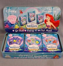 The Little Mermaid Special Edition Card Game Set Go Fish Crazy 8's Old Maid