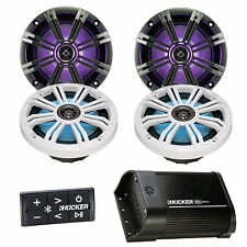 "Bluetooth 2Channel Kicker Portable Amplifier,4 LED 8""Multi Color Kicker Speakers"