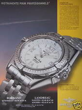 PUBLICITÉ PAPIER 2000 MONTRE BREITLING WINGS LADY STYLE FÉMININ - ADVERTISING