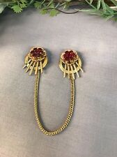 Lovely Vintage Rare HARRY ISKIN SIGNED Gold Filled Sweater Guard-- Estate