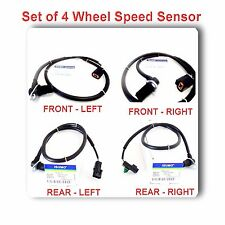 Set 4 ABS Wheel Speed Sensor Front Rear Left & Right Fits: Montero 2001-2006