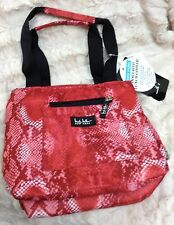 "NWT NICOLE MILLER INSULATED LUNCH HAND TOTE BAG COOLER 11"" PYTHON Red FREE S/H!"