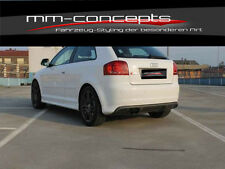 Diffusor Heckansatz für Audi A3 8P NEU Heck Heckschürze NEU S-Line S3 Look RS3