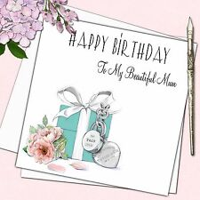 "Personalised Tiffany Gift Birthday Card Female Mother Daughter Friend  6"" x 6"""