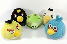 Angry Birds Plush Lot Green Pig Chuck Bomb Blue Matilda Pre Owned some w/ Sound