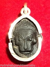 Narasimha Shaligram / Narasimha Carved on Sudershan Salagram - In Silver Pendant