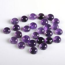 g0537 10pcs of 8mm Brazilian amethyst round gemstone flatback cab cabochon