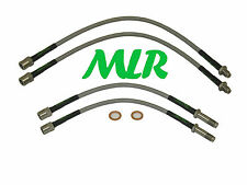 BMW 5 SERIES E39 M5 530 535 STAINLESS STEEL BRAIDED BRAKE LINES HOSES MLR.AEP