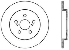 Centric Parts 120.44165 Rear Premium Brake Rotor