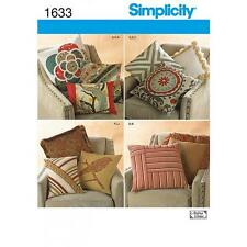 SIMPLICITY SEWING PATTERN Decorative Pillows CUSHION COVERS  1633