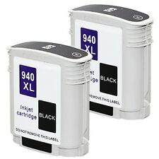 2 pack HP 940 XL BLACK Ink Cartridge For Officejet Pro A910a 8500A e-All-in