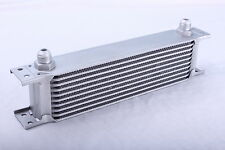 10 Row Oil Cooler 3/4 16 UNF Universal Racing Kit Engine Alloy Race Silver NEW