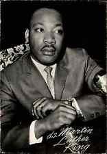 Autogrammkarte Postkarte Postcard MARTIN LITHER KING Bürgerrechtler USA ~1960