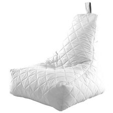 White Huge Bean Bag Chair Quilted Recliner Water Resistant Gamer Children's Kids