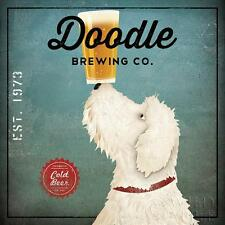 LABRADOODLE DOG ART PRINT RETRO STYLE ADVERT POSTER Doodle Brewing Co. Cold Beer
