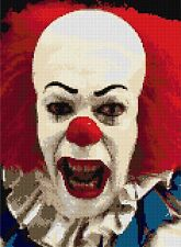 "Pennywise ""il"" clown Cross Stitch Kit personnage de film 9 ""x11"" dessins de fil"