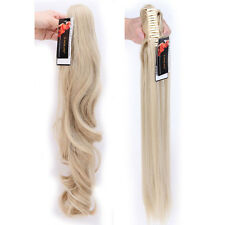 Jaw Ponytail Clip in Hair Extensions Claw On Pony tail Hair Extensions As Human