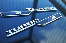 1 Pair ABS BMW M Turbo Trunk Emblem Badge Decal Fender fit for M3 M4 M5 X3 X5