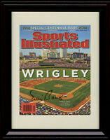 Framed Wrigley Field Sports Illustrated Autograph Print - 100 Years Cubs/Banks