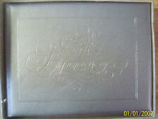 AMSCAN,Our Silver Wedding Anniversary Guest & Gift Book in Silver *new*
