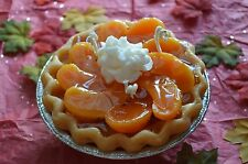 "5"" Peaches 3d Pie Scented Soy and Gel wax. Dessert Candles that looks YUMMY!"