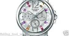 SHE-3035D-7A White Casio Sheen Ladies Women's Watches 50m Stainless Steel Band