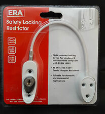 ERA 723 Cable Window Restrictor Locking Child Safety IN White with 2 Keys