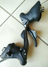 CAMPAGNOLO RECORD CARBON SHIFTERS 10 SPEED GOOD WORKING CON ROAD BIKE  BRAKES